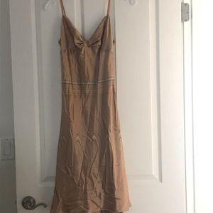 Max Studio Bronze 100% Silk Dress Sz M